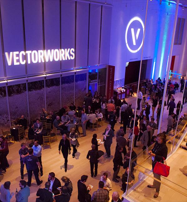 Vectorworks users networking at the 2016 Vectorworks Design Summit in Chicago