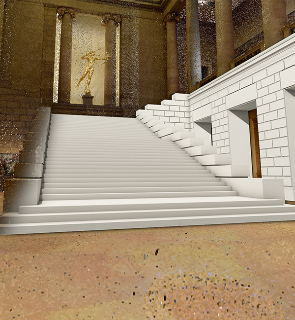 Point Cloud scan of the lobby of the Philadelphia Museum of Art